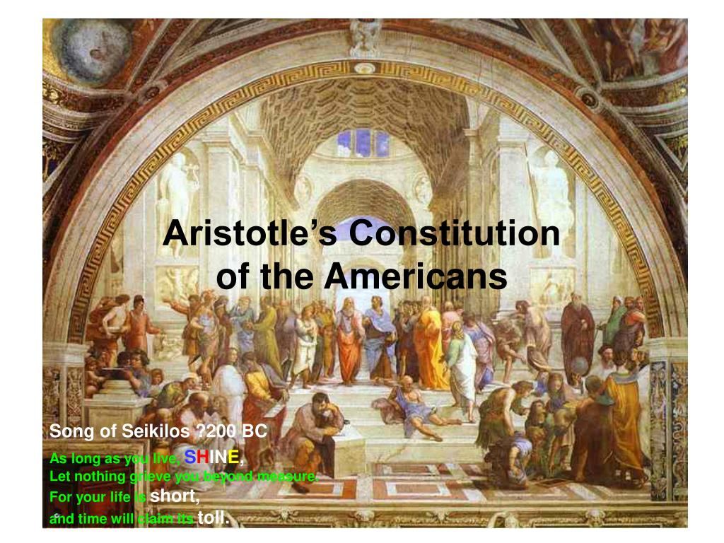 aristotle s constitution of the americans l.