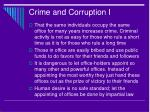 crime and corruption i