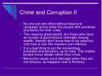 crime and corruption ii