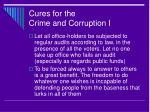 cures for the crime and corruption i