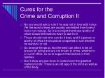 cures for the crime and corruption ii