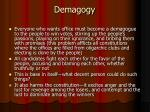 demagogy
