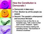 how the constitution is democratic i