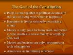 the goal of the constitution