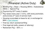 financial active duty