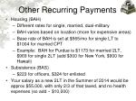 other recurring payments