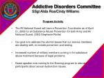 addictive disorders committee ssgt alida roa cindy williams