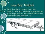 low boy trailers13