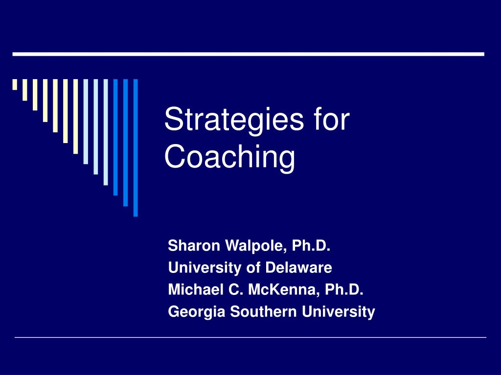 strategies for coaching l.