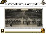 history of purdue army rotc