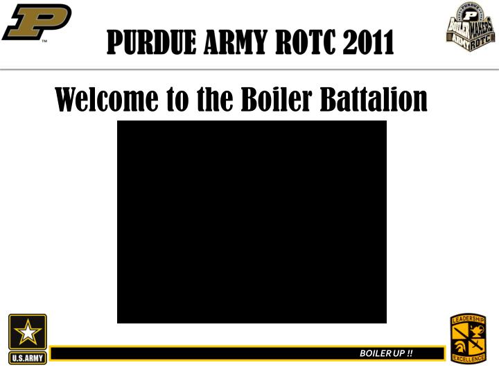Ppt purdue army rotc 2011 powerpoint presentation id197243 purdue army rotc 2011 toneelgroepblik Images