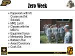 zero week