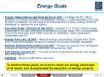 energy goals