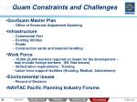 guam constraints and challenges
