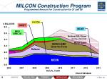 milcon construction program programmed amount for construction as of jan 08