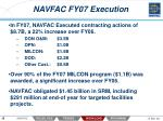 navfac fy07 execution