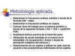 metodolog a aplicada