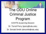 the odu online criminal justice program