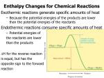 enthalpy changes for chemical reactions26