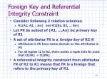 foreign key and referential integrity constraint