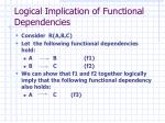 logical implication of functional dependencies