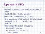 superkeys and fds