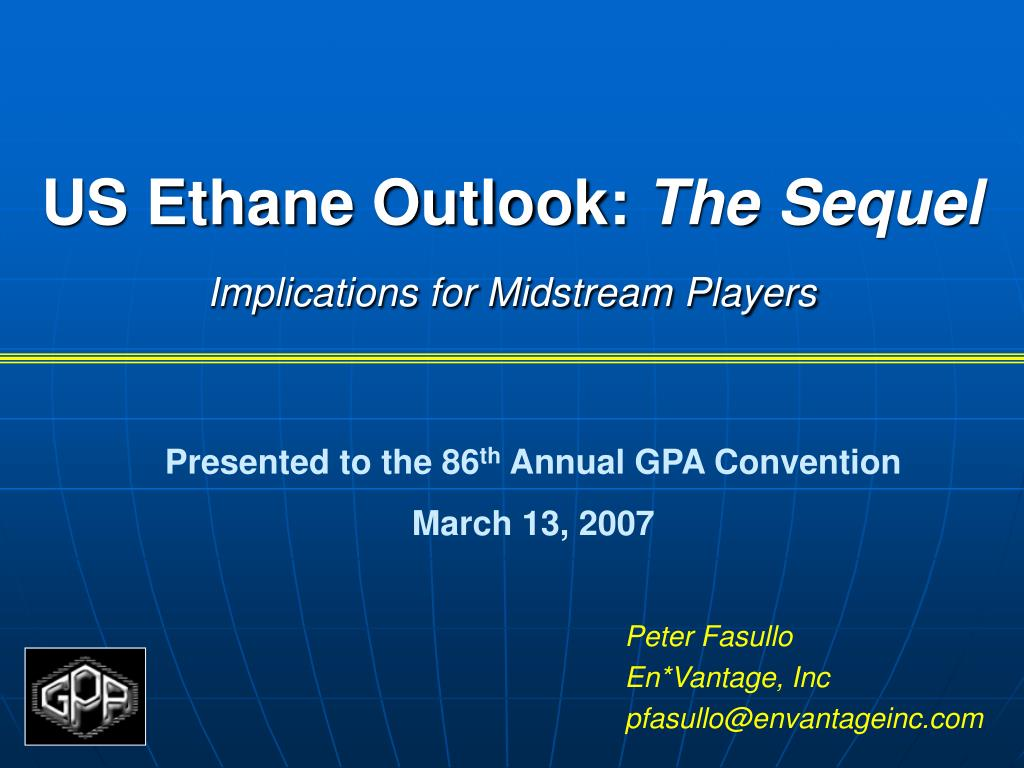 us ethane outlook the sequel implications for midstream players l.