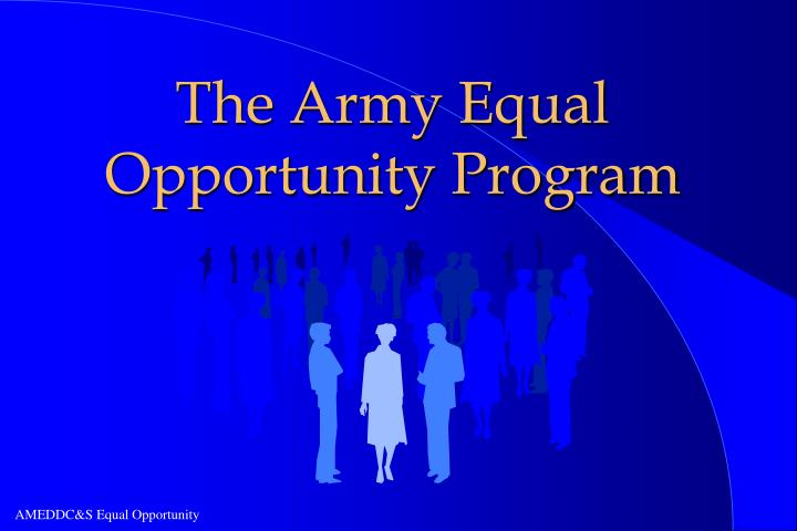 the army equal opportunity program n.