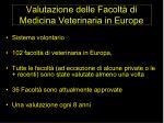 valutazione delle facolt di medicina veterinaria in europe