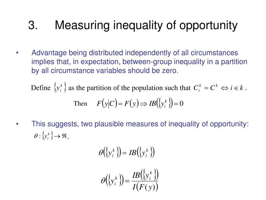 measuring inequality This paper aims at developing a measure for educational inequality for a large number of countries over time, using the concept of education gini index based on school attainment data of the concerned population (or labor force.
