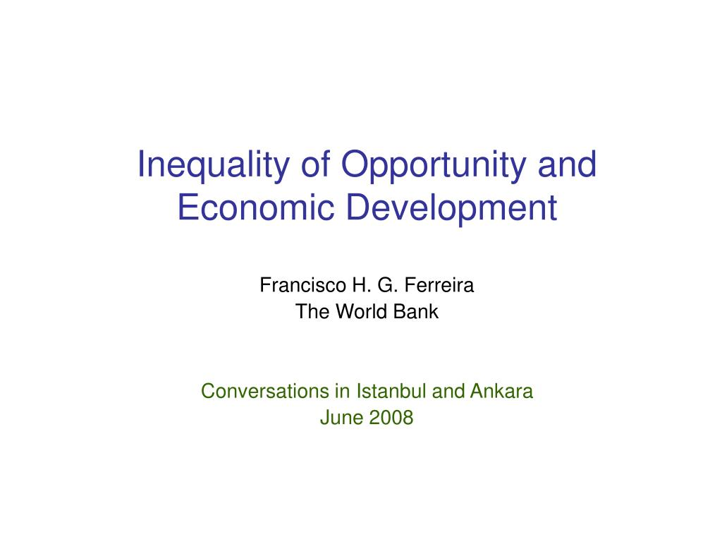 inequality of opportunity and economic development l.