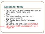 agenda for today32