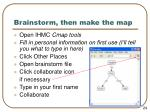 brainstorm then make the map