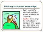 eliciting structural knowledge