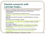 finnish research with concept maps