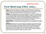first mind map cscl roles