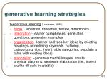 generative learning strategies