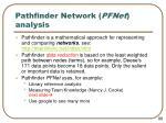 pathfinder network pfnet analysis