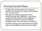 scoring concept maps