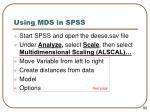 using mds in spss