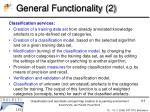 general functionality 2