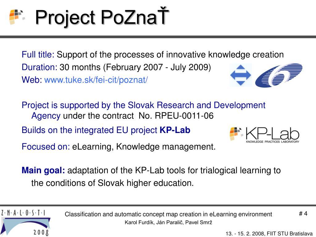 Project PoZnaŤ