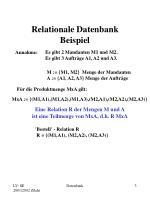 relationale datenbank beispiel