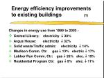energy efficiency improvements to existing buildings 1