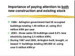 importance of paying attention to both new construction and existing stock