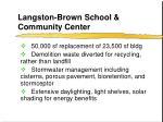 langston brown school community center