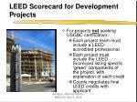 leed scorecard for development projects