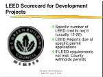 leed scorecard for development projects11