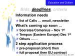 bids deadlines criteria36