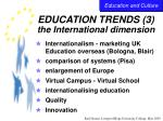 education trends 3 the international dimension